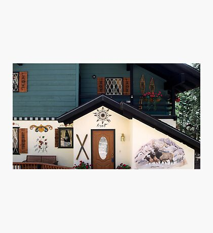 Behold this chalet ! Photographic Print