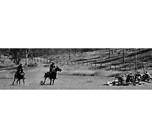 horses guns  Photographic Print