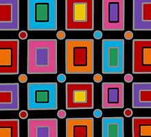 Retro Art - Vivid Colour #1 by sekodesigns