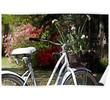 Delivering Spring Flowers Poster
