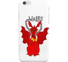 Welsh Dragon with daffodils iPhone Case/Skin