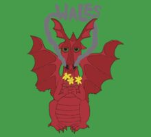 Welsh Dragon with daffodils Kids Clothes