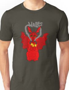 Welsh Dragon with daffodils Unisex T-Shirt