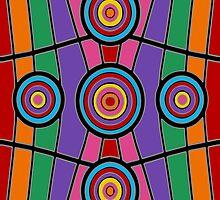 Retro Art - Vivid Colour #7 by sekodesigns