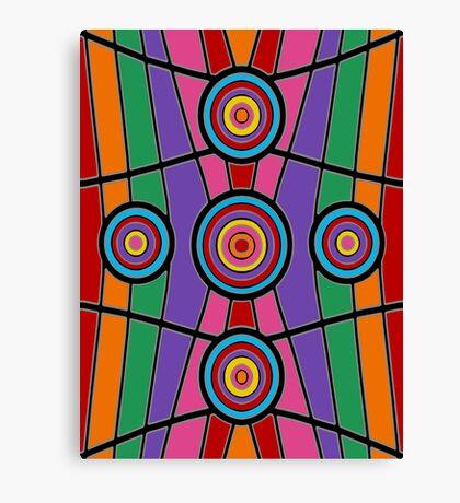 Retro Art - Vivid Colour #7 Canvas Print