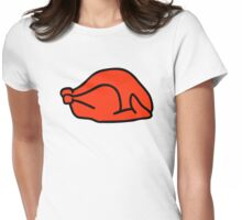 Roast turkey Womens Fitted T-Shirt