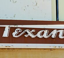 Texan Movie Theater Sign by Catherine Sherman