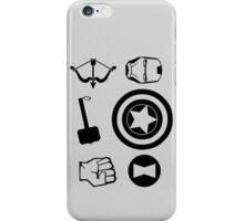 The Avengers - Minimal Symbols iPhone Case/Skin