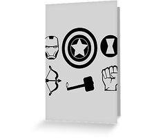 The Avengers - Minimal Symbols Greeting Card