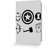 The Avengers - Minimal Symbols Greeting Card