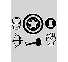 The Avengers - Minimal Symbols Photographic Print