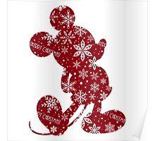 Christmas Mickey Poster