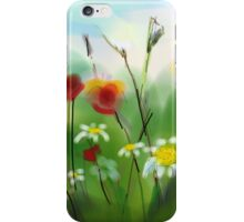 Poppies and Daisies Painting iPhone Case/Skin