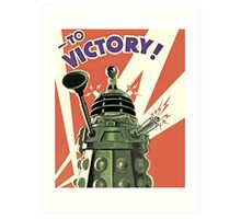 Doctor Who - Daleks to Victory Art Print