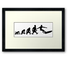 surf  surfing darwin evolution Framed Print