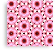 Pink and Black Shapes Canvas Print