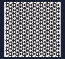 Animal Pattern -Geometric Black and White Kids Tee