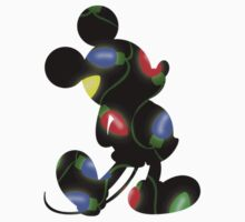 Christmas Lights Mickey by taycobb