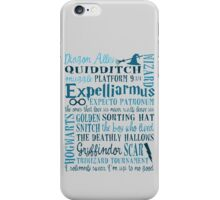 Harry Potter - All Books Quotes  iPhone Case/Skin