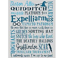 Harry Potter - All Books Quotes  Photographic Print