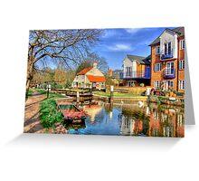 Thames Lock - Weybridge - HDR Greeting Card