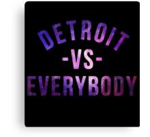 Detroit VS Everybody GALAXY Canvas Print
