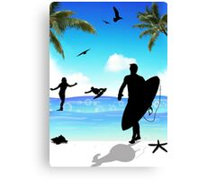 surf Canvas Print