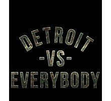Detroit VS Everybody Camo Photographic Print