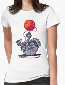 Cat-At Loves Yarn! Womens Fitted T-Shirt