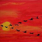Bird train by Oehmig Birgit