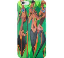 Three Ethnic Traditional Black Women Dancing iPhone Case/Skin