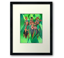Three Ethnic Traditional Black Women Dancing Framed Print