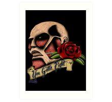 Attack on Titan Tattoo Art Print