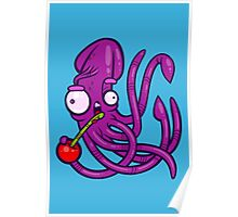 Squid And Cherry Poster