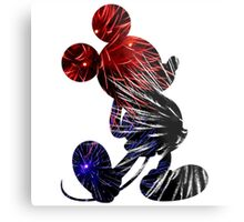 Fireworks Mickey Metal Print