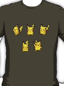 Pokemon Dungeon Pikachu Sprites (Sticker Pack) T-Shirt