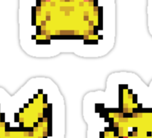 Pokemon Dungeon Pikachu Sprites (Sticker Pack) Sticker