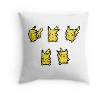 Pokemon Dungeon Pikachu Sprites (Sticker Pack) Throw Pillow