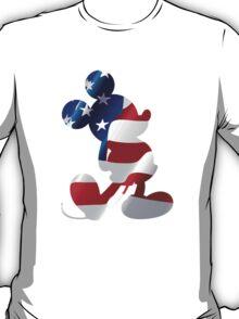 American Flag Mickey T-Shirt