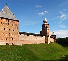 fortress wall of the Novgorod Kremlin by mrivserg