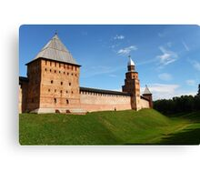 fortress wall of the Novgorod Kremlin Canvas Print