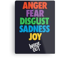 Inside Out emotions with the logo Metal Print