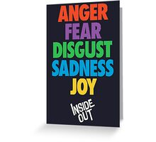 Inside Out emotions with the logo Greeting Card