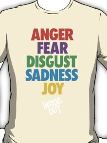 Inside Out emotions with the logo T-Shirt
