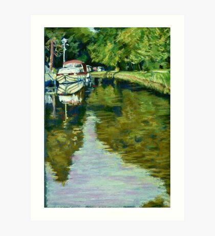 The Brecon and Monmouth Canal, nr Abergavenny, Wales Art Print