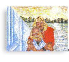 diane and peter looking out Canvas Print