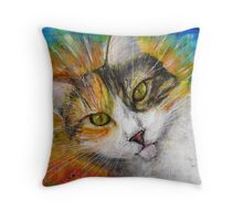Cat Gracie Throw Pillow