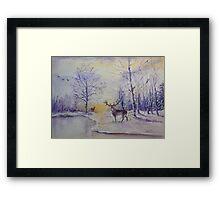 Dawn Forage Framed Print