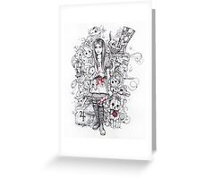 wonderland shattered Greeting Card