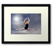 Leaping in the Clouds Framed Print